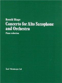 Ronald Binge: Concerto For Alto Saxophone And Orchestra (Alto Saxophone/Piano) Books | Alto Saxophone, Piano Accompaniment
