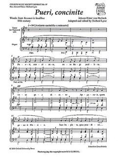 Johann Ritter Von Herbeck: Pueri, Concinite Books | Tenor, SATB, Organ Accompaniment