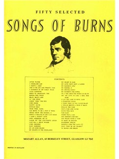 Fifty Selected Songs Of Burns Books | Piano, Vocal & Guitar