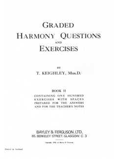 Thomas Keighley: Graded Harmony Questions And Exercises - Book 2 Books |
