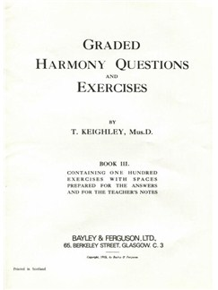 Thomas Keighley: Graded Harmony Questions And Exercises - Book 3 Books |
