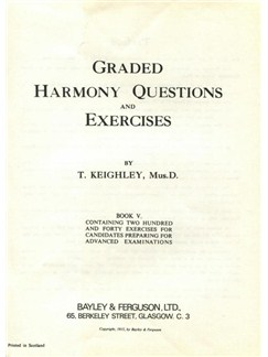 Thomas Keighley: Graded Harmony Questions And Exercises - Book 5 Books |