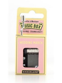 Hand Crank Music Box: Wedding March  |