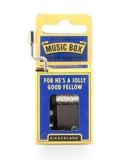 Hand Crank Music Box: He's A Jolly Good Fellow  |