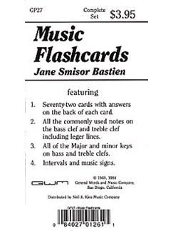 Bastien music flashcards image