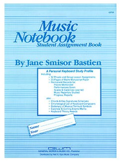Music Notebook Books | Piano