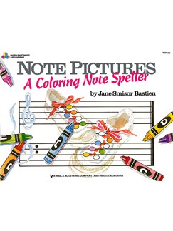 Note Pictures: A Coloring Note Speller Books | Piano
