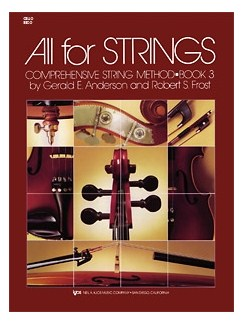 All For Strings Book 3 Full Score And Manual Books | Piano