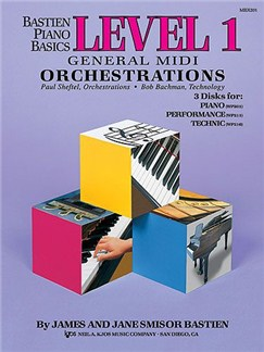 Bastien Piano Basics: General MIDI Orchestrations - Level One Books and CD-Roms / DVD-Roms | Piano