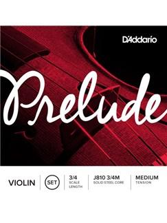 D'Addario: J810 Prelude Violin String Set - 3/4 Scale Length  | Violin