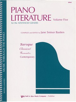 Jane Smisor Bastien: Piano Literature - Volume Five Books | Piano