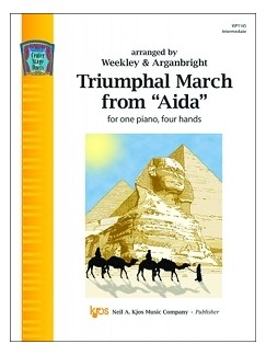 "Giuseppe Verdi: Triumphal March from ""Aida"" (Center Stage Duets) Books 