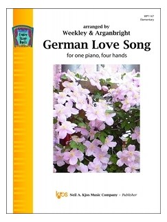 Center Stage Duets: German Love Song Books | Piano Duet