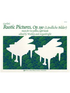 Cornelius Gurlitt: Rustic Pictures Op.190 (Two Pianos, Eight Hands) Books | Two Pianos, Eight Hands