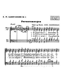 Johannes Kristensen: Foraarsmorgen (TTBB) Bog | TTBB, Kor