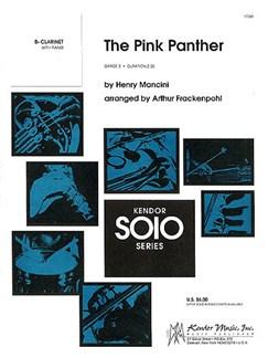 Henry Mancini: The Pink Panther (B-Flat Clarinet) Books   Clarinet, Piano Accompaniment