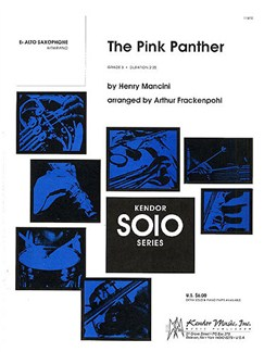 Henry Mancini: The Pink Panther (E-Flat Alto Saxophone) Books | Alto Saxophone, Piano Accompaniment