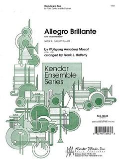 W.A. Mozart: Allegro Brillante Books   Flute, Oboe, Clarinet