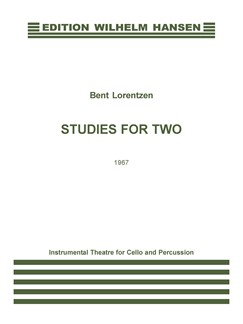 Bent Lorentzen: Studies For Two (Score) Books | Cello, Percussion
