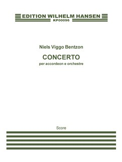 Niels Viggo Bentzon: Accordion Concerto (score) Bog | Accordeon, Orkester