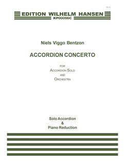 Niels Viggo Bentzon: Accordion Concerto (solo accordion and piano reduction) Books | Accordion/Piano Accompaniment