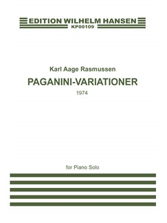 Karl Aage Rasmussen: Paganini Variations Books | Piano