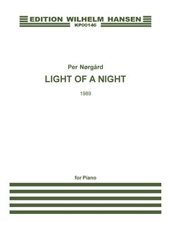Per Nørgård: Light Of A Night (Piano Solo) Libro | Piano