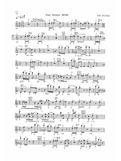 Poul Ruders: String Quartet No.3 'Motet' (Parts) Books | String Quartet