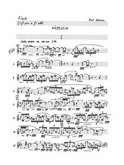 Bent Sørensen: Mädelein (Parts) Libro | Música de Cámara, Conjunto de Vientos, Instrumentos de Vientos