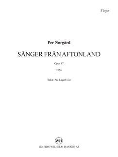 Per Nørgård: Sånger Från Aftonland (Parts) Books | Alto, Cello, Flute, Harp, Viola, Violin