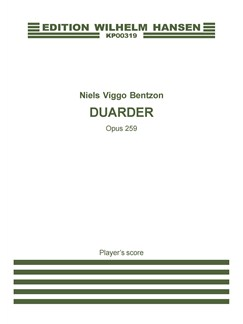 Niels Viggo Bentzon: Duarder Op. 259 Books | Accordion, Percussion, Chamber Group