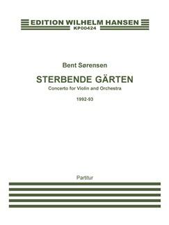 Bent Sørensen: Sterbende Garten (Score) Bog | Violin, Orkester