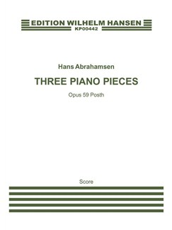Carl Nielsen: Three Piano Pieces Op.59 Posth. (Arr. Hans Abrahamsen) Books | Ensemble
