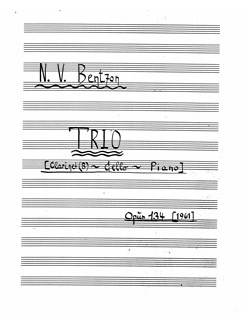 Niels Viggo Bentzon: Trio Op.134 (Score/Parts) Books | Clarinet, Cello, Piano Chamber