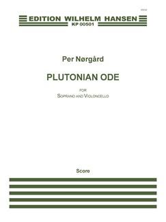 Per Nørgård: Plutonian Ode (Score) Books | Cello, Soprano
