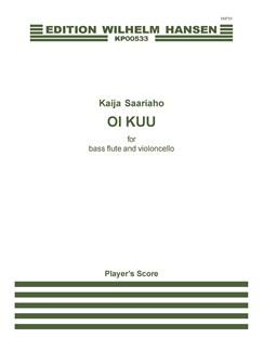 Kaija Saariaho: Oi Kuu (Bass Flute/Cello) Books | Bass Flute, Cello