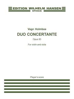 Vagn Holmboe: Duo Concertante Op. 83 (Player's score) Bog | Bratsch, Violin