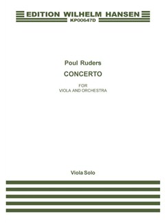 Poul Ruders: Concerto For Viola And Orchestra (Part For Viola) Books | Viola