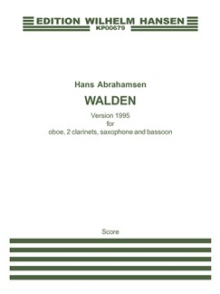 Hans Abrahamsen: Walden - Version 1995 (Score) Books | Alto Saxophone, Bassoon, Clarinet, Oboe