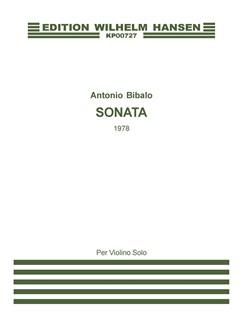 Antonio Bibalo: Sonata For Violin Solo Books | Violin
