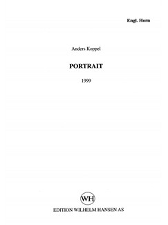 Anders Koppel: Portrait -1999 Version (Parts) Bog | Engelskhorn, Altsaxofon, Violin, Cello, Kontrabas, Slagtøj, Klaver Ensemble