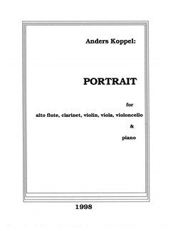 Anders Koppel: Portrait - Original Version (Score) Bog | Altfløjte, Klarinet, Violin, Bratsch, Cello, Klaver Ensemble