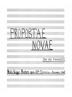 Niels Viggo Bentzon: Propostae Novae Op.129 (Score) Books | Two Pianos