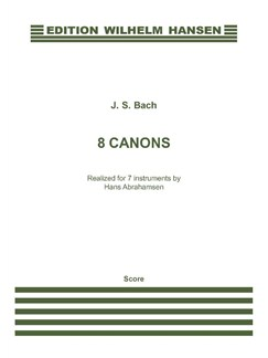 J.S. Bach: 8 Canons (Score) Books | Chamber Group