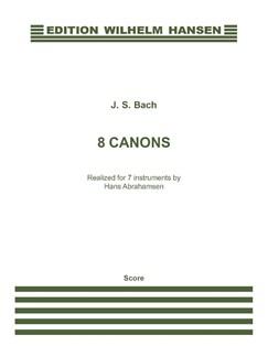 J.S. Bach: 8 Canons (Score) Libro | Música de Cámara