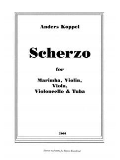 Anders Koppel: Scherzo (Score) Books | Cello, Marimba, Tuba, Viola, Violin