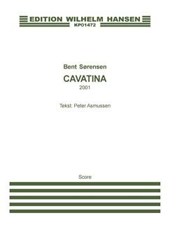 Bent Sørensen: Cavatina Fra 'Under Himlen' (Score) Bog | Mezzosopran, Violin, Klaver Ensemble