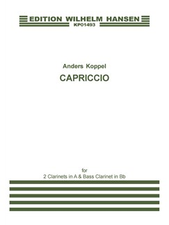 Anders Koppel: Capriccio - 1999 Version (Score And Parts) Books | Chamber Group, Clarinet
