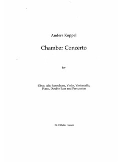 Anders Koppel: Chamber Concerto (Score) Books | Chamber Group