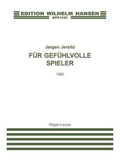 Jörgen Jersild: Für Gefühlvolle Spieler (player's score) Books | Harp